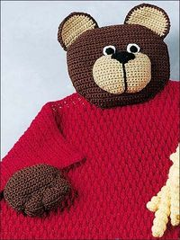 Teddy Bear Blanket Buddy - free crochet pattern AND EASY LEVEL!!!