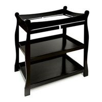 Badger+Basket+-+Sleigh+Style+Changing+Table,+Black