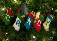 Hang all kinds of candy in your Christmas tree. Candy Stockings PDF Knitting Pattern, $2.99