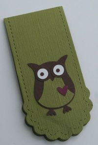 Two tags owl bookmark