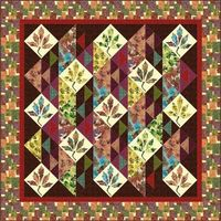 Falling Leaves quilt - free quilt pattern from Hoffman fabrics