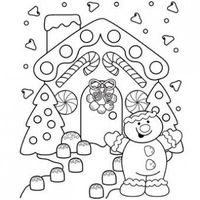 Gingerbread Lane Coloring Page