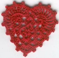 Heart crochet pattern.