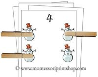 Counting Cards (Winter) - Printable Montessori Learning Materials for home and school.