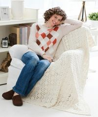 Who doesn't love a beautiful Aran throw? This easy project with an 8-row repeat will keep you entertained as you crochet. It makes the perfect gift.