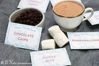 Winter Wonderland Hot Cocoa Bar Plus Free Printable Cards
