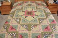 King size Star Log Cabin Patchwork Complete by lovequilting, $169.99