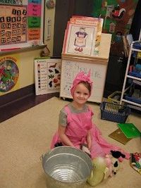 retelling mrs wishy washy with props