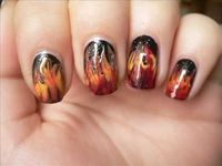 Girl on fire nails!! #HungerGames