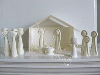 Wow! I love this paper nativity