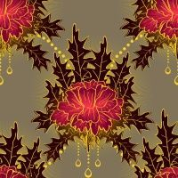 Colourlovers by Albena; pattern template by yoksel. love the glowy centers!