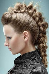 mohawk inside out braid.