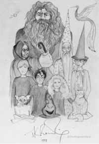 A drawing done by hand in 1999 by J.K. Rowling