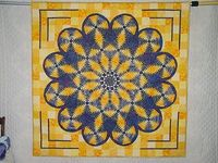 """My sister Julia's """"Plate of Pineapples"""" quilt"""