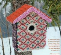 knit birdhouse