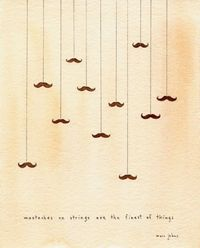 mustaches on strings