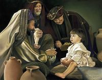 The Holy Men - the three wise men by religious artist Liz Lemon Swindle