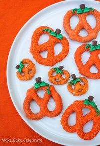 Chocolate Covered Pumpkin Pretzels