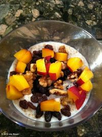 """Joy Bauer's photo: Try this yummy """"Dessert For Breakfast"""" -- Peach Cobbler Oatmeal!"""