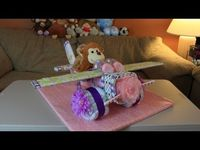 Airplane Diaper Cake (How To Make)