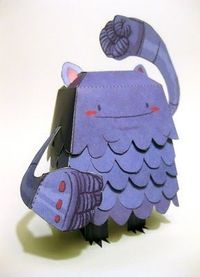 This adorable little monster is a paper cut out you can make! Awww.