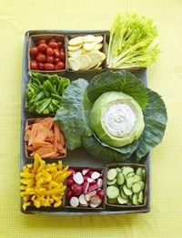 Beautiful presentation means everything... even with a veggie tray.